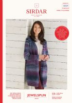 Sirdar Jewelspun Aran Knitting Pattern Booklet - 10029 Long Line Cardigan